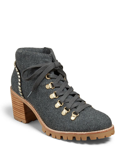 Poppy Flannel Hiker Boots