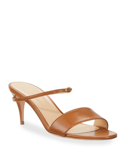 Andrea Capretto Leather Mule Sandals
