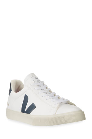 VEJA Campo Logo Leather Sneakers