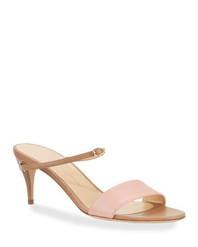 Andrea Napa Leather Mule Sandals