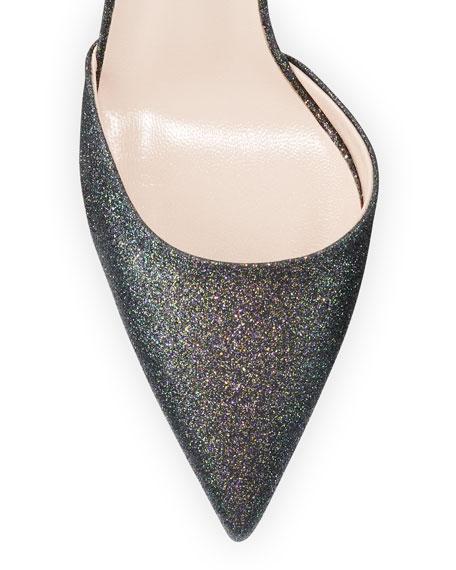SJP by Sarah Jessica Parker Bliss Metallic Glitter Low-Heel Pumps