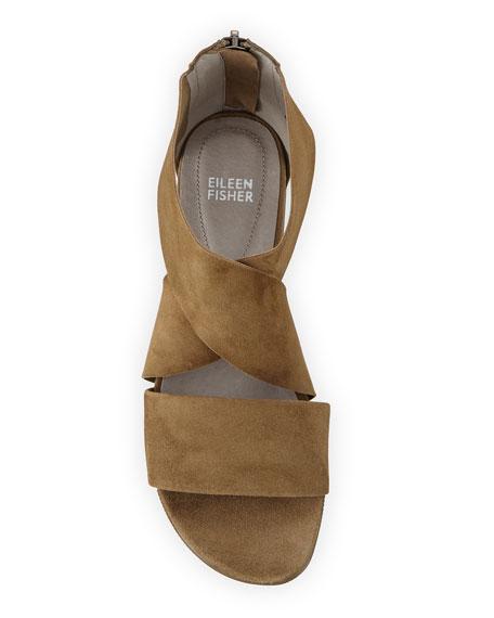Eileen Fisher Sport Suede Platform Sandals