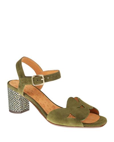 Loran Suede Ankle Sandals