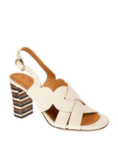 Balbina Leather Ankle Sandals