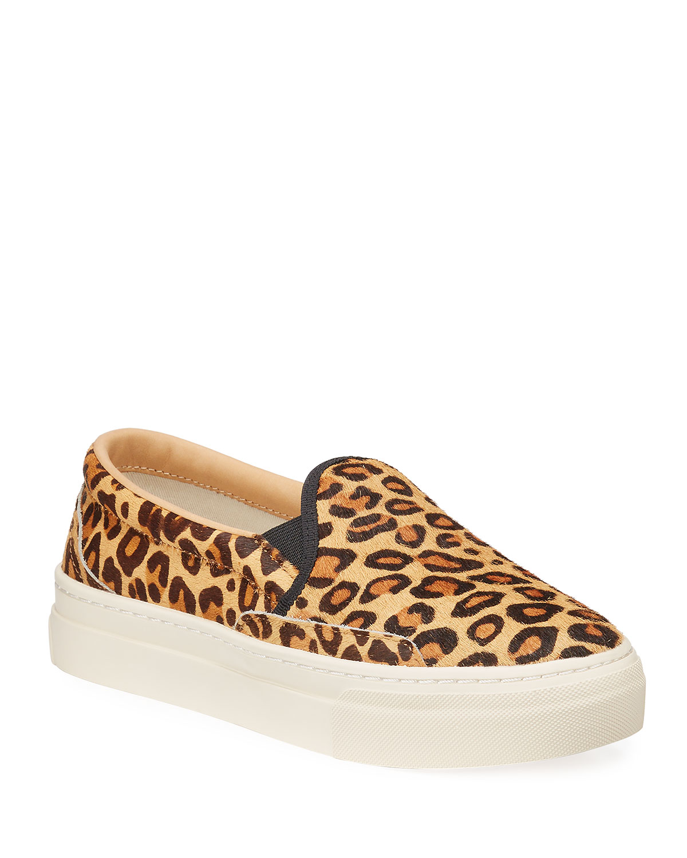 Soludos Bondi Leopard-Print Calf Hair