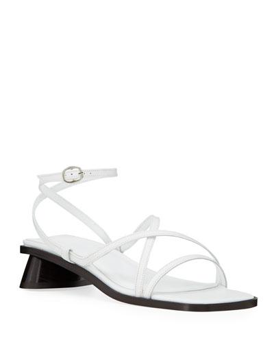 Yumi Oval-Heel Sandals