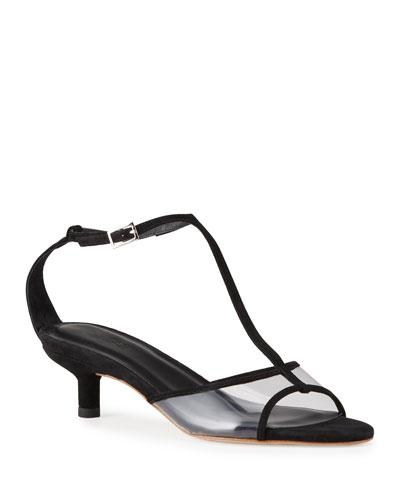 Baby 45mm Kitten-Heel T-Strap Sandals