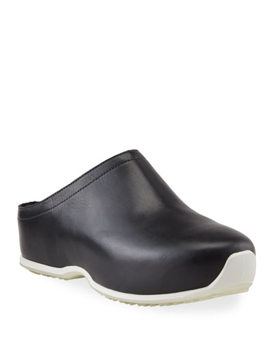 x ECCO Calf Leather Clogs