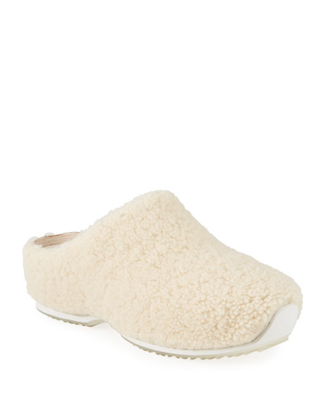 Rosetta Getty x ECCO Cozy Shearling Clogs