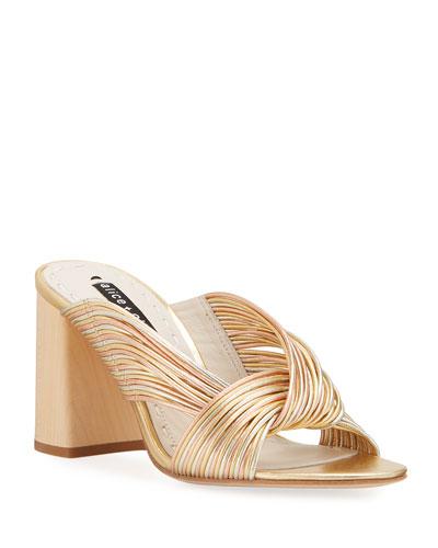 Landri Heeled Mule Sandals