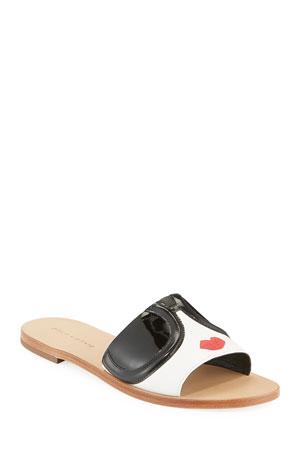 Alice + Olivia Hazel Flat StaceFace Slide Sandals