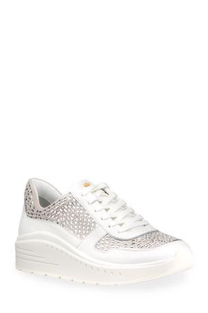 Stuart Weitzman Christa Embellished Fashion Sneakers