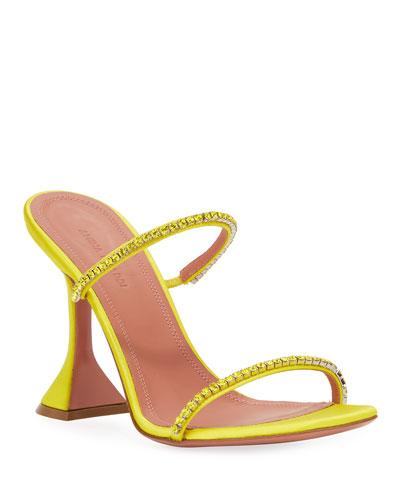 Gilda Satin Slipper Sandals