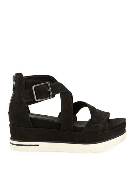 Eileen Fisher Boost Leather Platform Sandals