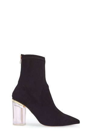 Marc Ellis Marc Ellis High Heels Ankle Boots In Black Satin