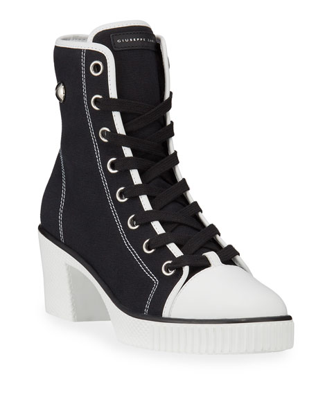 Giuseppe Zanotti 50mm Platform Heeled High-Top Sneakers