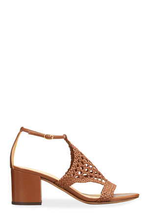 Alexandre Birman 60mm Cadie Woven Leather Sandals