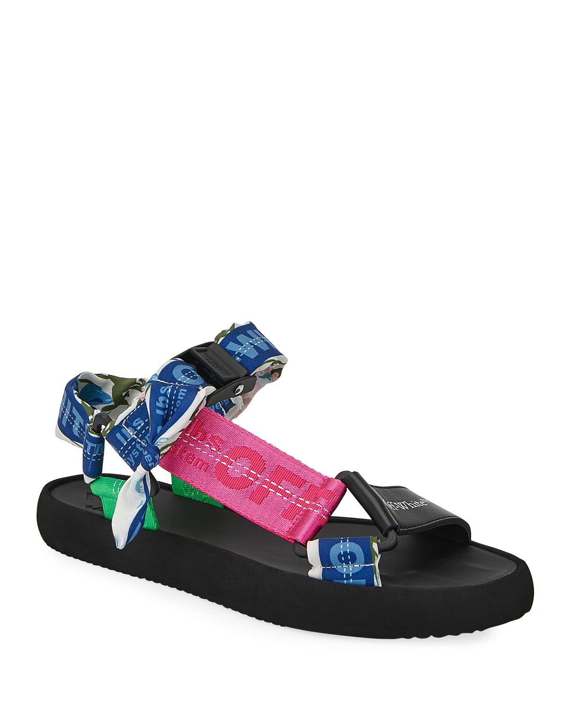 Off-White Micro Trek Nylon Logo Sandals