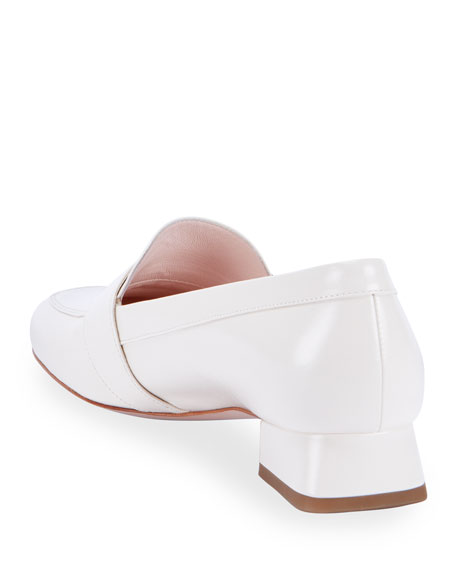Image 3 of 4: Roger Vivier Leather Buckle Slip-On Loafers