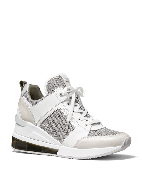 MICHAEL Michael Kors Georgie Extreme Colorblock Fabric Wedge Sneakers