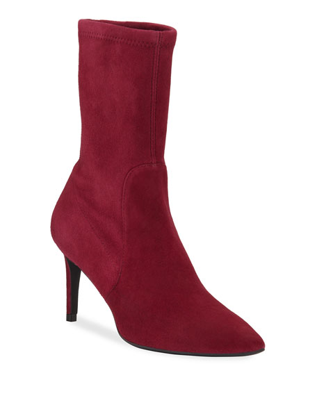 Image 1 of 1: Wren Stretch Suede Booties