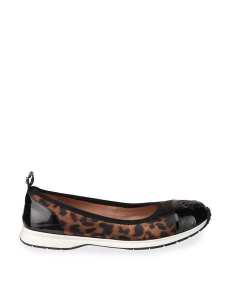 Image 2 of 4: Taryn Rose Bailey Patent Rose Leopard Ballet Sneakers