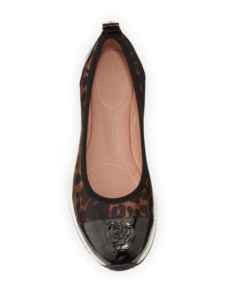 Image 3 of 4: Taryn Rose Bailey Patent Rose Leopard Ballet Sneakers
