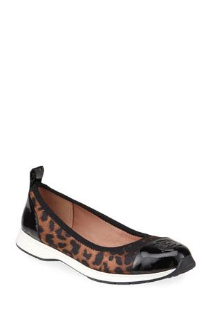 Taryn Rose Bailey Patent Rose Leopard Ballet Sneakers