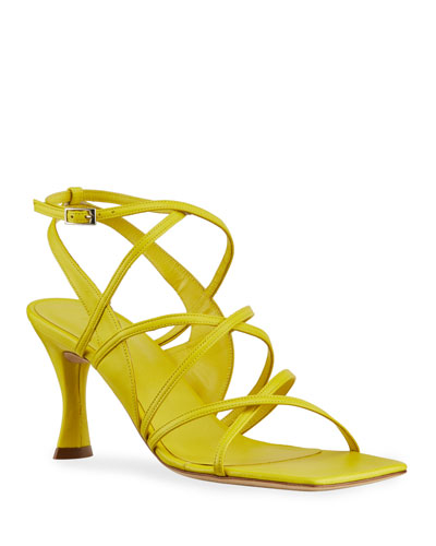 Christina Pedestal-Heel Gladiator Sandals