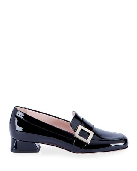 Roger Vivier Bracelet Buckle Patent Leather  Loafers