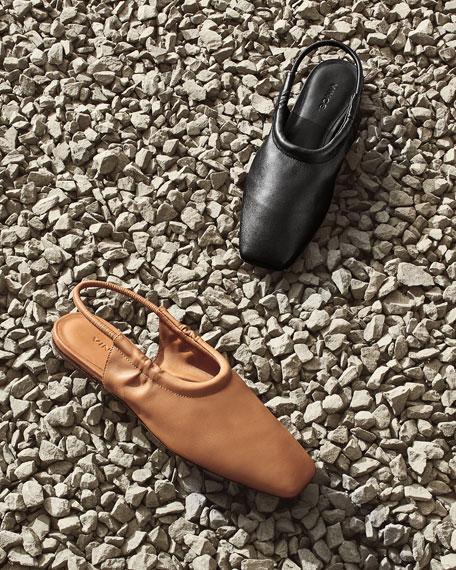 Vince Cadya Leather Slingback Ballerina Flats