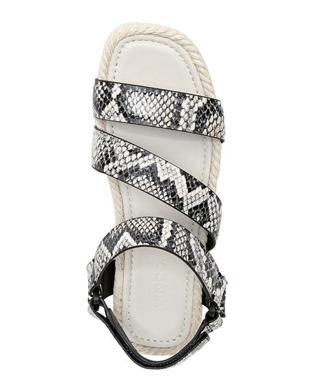 Vince Elian Snake-Print Flatform Sport Sandals