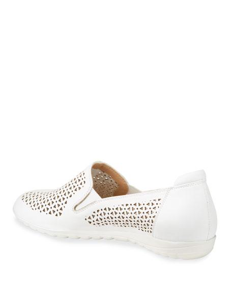 Sesto Meucci Bev Laser-Cut Leather Sneaker Flats