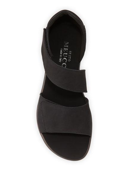 Sesto Meucci Electa Nubuck Demi Wedge Comfort Sandals