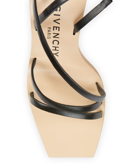 Image 3 of 4: 100mm Strappy Leather Ombre-Heel Sandals