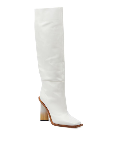 Givenchy Show Diamond Tall Leather Boots