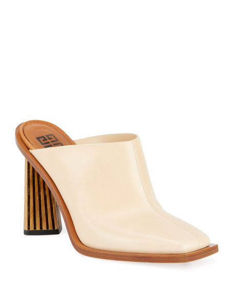 Givenchy Show Striped-Heel Leather Mules