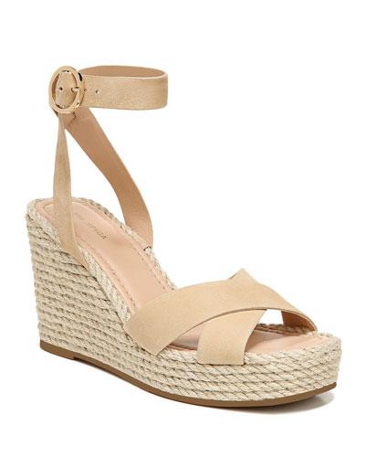 Sesilia Suede Wedge Sandals