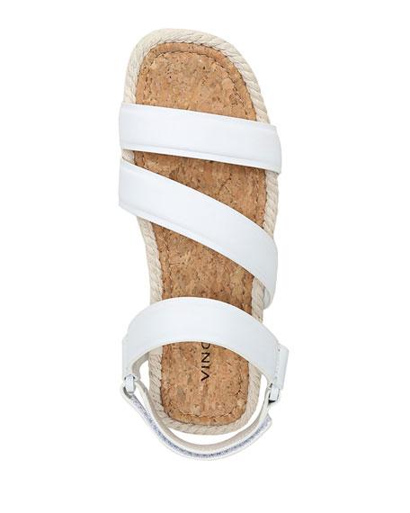 Vince Elian Leather Flatform Sport Sandals