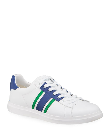 Tory Burch Valley Forge Saddle T-Stripe Sneakers