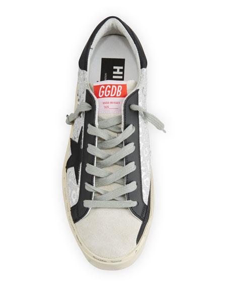 Golden Goose Hi Star Metallic-Print Platform Sneakers