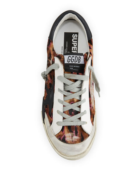 Golden Goose Superstar Leopard-Print Sneakers