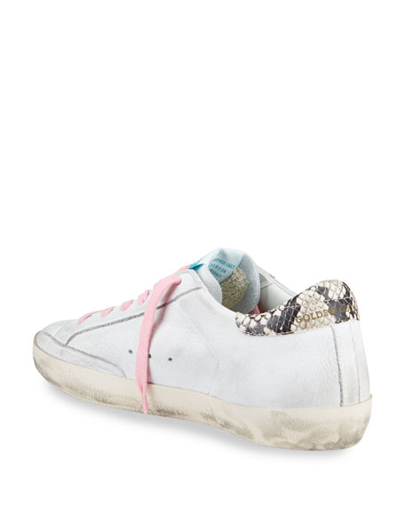 Golden Goose Superstar Python-Print Low-Top Sneakers