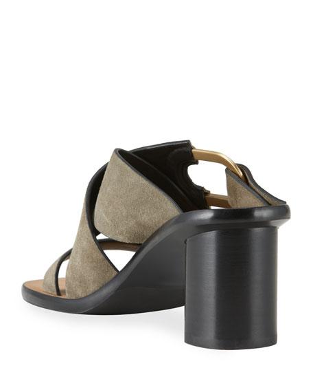 Rag & Bone August Heeled Suede Mule Sandals