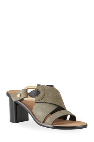 Rag & Bone August Heeled Suede Mule Sandals