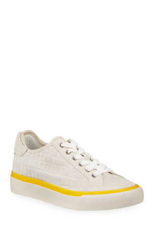 Rag & Bone Army Mock-Croc Suede Sneakers
