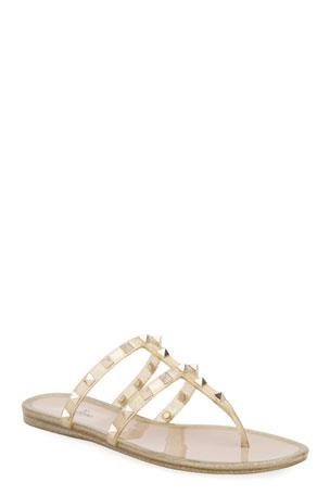 Valentino Garavani Rockstud Jelly Slide Sandals