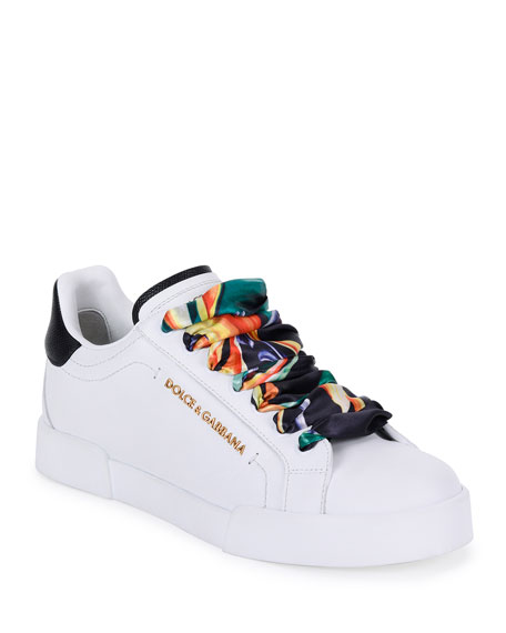 Dolce \u0026 Gabbana Leather Sneakers with
