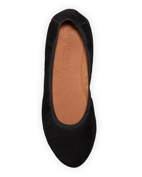 Gentle Souls Natalie Suede Comfort Wedge Ballet Flats