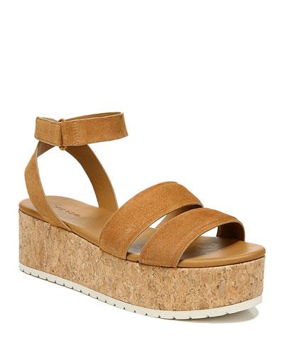 Jet Suede Platform Sandals